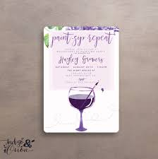 paint sip repeat painting party invitations wine art party