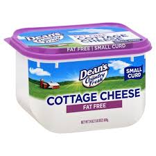non dairy cottage cheese deans country fresh cottage cheese small curd free 24 oz