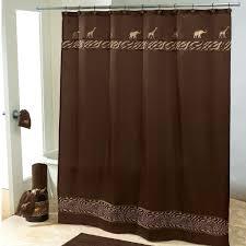 primitive bathroom ideas chic brown bathroom shower curtain with animal design as well as