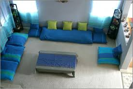 Floor Sofa by Living Room With Floor Cushions