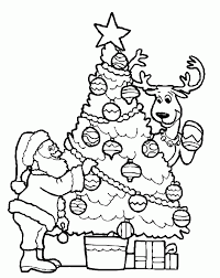 christmas tree color pages coloring