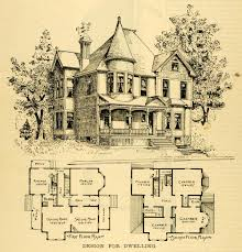 1891 print home architectural design floor plans victorian