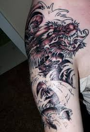 chinese black water dragon tattoo model photo gallery male