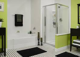 Door Ideas For Small Bathroom Bathroom Exciting Green And White Small Bathroom Design With