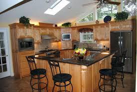 unfinished furniture kitchen island wood kitchen furniture cherry wood kitchen cabinet with black iron