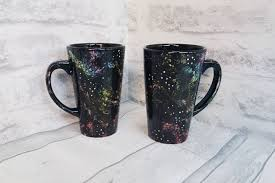 astronomy latte mug galaxy cup large space mugs hand painted