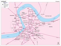 Gujarat India Map by Surat City Map City Map Of Surat With Important Places Newkerala