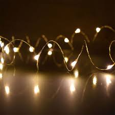 starry dewdrop string lights warm color