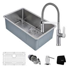 Stainless Steel Kitchen Sink Combination KrausUSAcom - Commercial kitchen sinks stainless steel