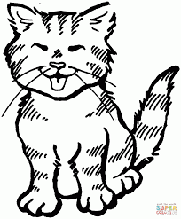 cat pictures to color for kids to print tags cat picture to