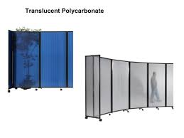 Portable Room Divider 6ft Portable Room Divider Partition 360 In Translucent Poly
