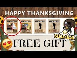 stardoll free stuff 2017 thanksgiving turkey day 1