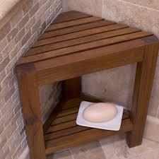 Teak Benches For Bathrooms Bench Teak Shower Seat Corner Wood Treenovation For Popular