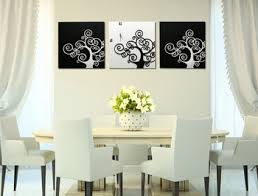 handmade resin relief painting white and black tree for home