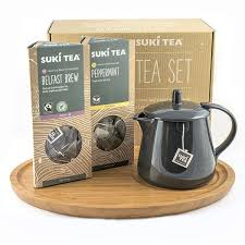 tea gift sets suki pyramid tea gift set classic pyramid bag bamboo tea board