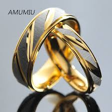 couples rings online images Amumiu stainless steel couples rings for men women gold wedding jpg