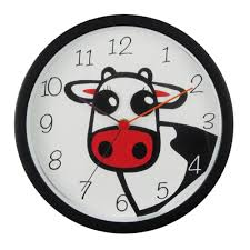 buy clover cow wall clock online purely wall clocks