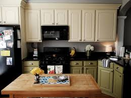 kitchen two toned kitchen cabinet with green and white