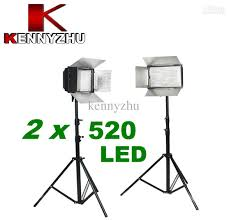 led studio lighting kit 2018 new pro studio lighting kit ds 520 2 x 500 led video photo