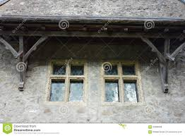 octagon stained glass window octagonal stained glass windows with timber frame stock photo