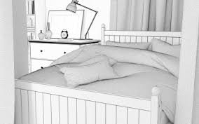 Ikea Hurdal Bed Ikea Complete Scene Models4d