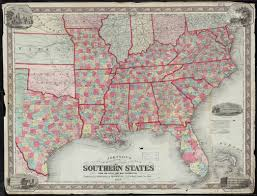 Southern States Map by Lloyd U0027s Map Of The Southern States Showing All The Railroads