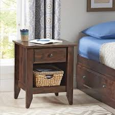 better homes and gardens leighton night stand rustic cherry