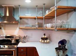 open kitchen cabinet ideas metal shelf unit for kitchen with cabinets and shelves made pipe