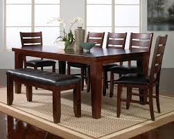 table crown mark dark oak dining room set sets solid wood table