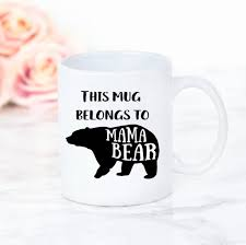 family bear mugs baby mama papa bear set by the best of me