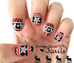 christmas nail wraps real nail polish strips nail art