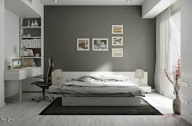 Black And White Rustic Bedroom Interiors With Natural And Rustic Accents