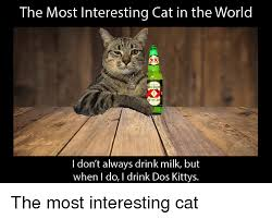 Dos Xx Memes - the most interesting cat in the world xx i don t always drink milk