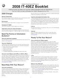 Sample Loan Processor Resume by 2008 It 40ez Income Tax Booklet With Form And Schedule