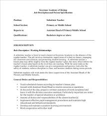 cover letter for substitute teaching position effective