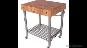 john boos cucina d u0027amico kitchen carts butcher block co youtube