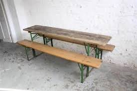 German Beer Bench And Table