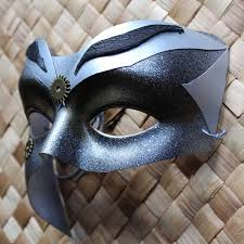 men masquerade mask silver black steunk warrior masquerade mask for men or women
