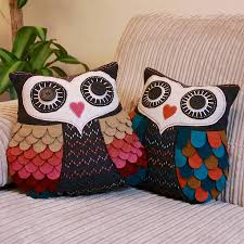 vintage inspired felt owl cushion by lisa angel homeware and gifts