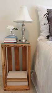 Wooden Crate Nightstand Table Breathtaking Diy Bedside Table Nightstand Nightstands Tables
