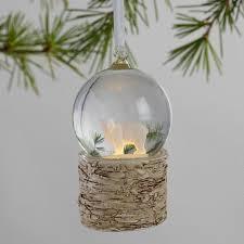 light up snow globe glass snow globe light up winter ornaments set of 3 world market