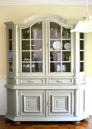 Display Dishes In China Cabinet China Cabinet Chalk Paint Makeover Sondra Lyn At Home