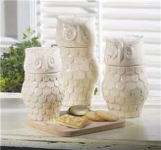 owl canisters for the kitchen owl canister set from kirklands owl stuff canister