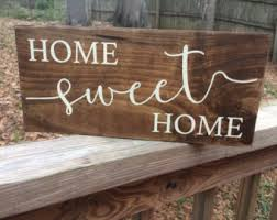 Home Decor Wooden Signs Home Sweet Home Wood Sign Etsy