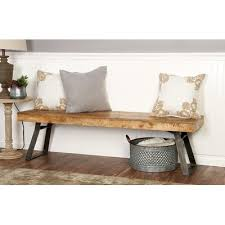 loft metal and wood bench u0026 reviews birch lane
