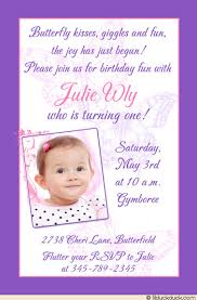 butterfly birthday invitation purple delicate wording child