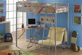 High Sleeper With Futon And Desk Joseph Study Bunk High Sleeper Bed With Desk And Single Futon