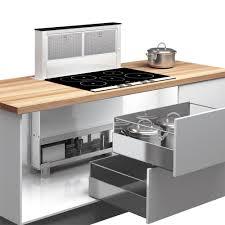 installer une hotte de cuisine airforce downdraft inox et verre hotte plan de travail pour la cuisine