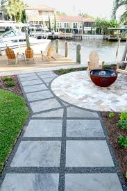 Dry Laid Flagstone Patio Dry Laid Flagstone Pathway With Mexican Beach Pebble Modern