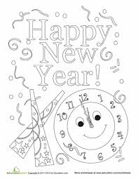 happy new year preschool coloring pages happy new year coloring sheet worksheets january and activities